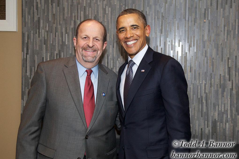 John Oram & President Obama